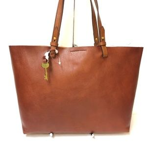 Fossil Rachel Tote & Pouch Henna Brown Large New!
